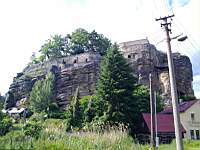 The Sloup castle carved into stone
